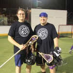Hampton Faculty Fellows Erik Brodt and Rodney Haring playing a game of Lacrosse in Niagara Falls, NY during our writing retreat - October 2015