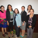 Hampton Faculty Fellows - Cohort 3.  L to R: Monica Yellowhair, Michelle Johnson-Jennings, Judith Kaur, Amanda Bruegl, Vanessa Simonds, and Karletta Chief.